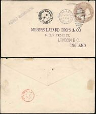 MARITIME 1895 US GERMAN SEA POST + SOUTHAMPTON PACKET LETTER + FURST BISMARCK