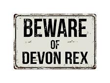 240Vs Beware Of Devon Rex 8� x 12� Vintage Aluminum Retro Metal Sign