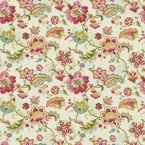 P Kaufmann OPHELIA Jacobean Floral BLOSSOM Drapery Curtain Upholstery Fabric BTY