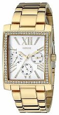 Guess Women's Gold Tone Multi-Function Rectangular Watch - U0446L2 MSRP $125