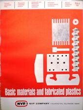 NVF Co National Vulcanized Fibre Catalog ASBESTOS Laminated Plastics 1960's