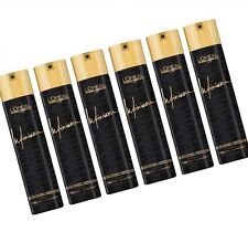 6x 500 ml LOREAL INFINIUM EXTRA FORCE STRONG 4 HAARSPRAY SET