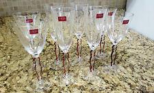 4 + 4 Crystal D'Arques Garanti Plus DE France Genuine Lead Crystal Wine Glasses