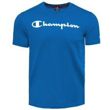 Champion Crewneck Shirt Men Herren Short Sleeve Tee T-Shirt blue 212687-BS090