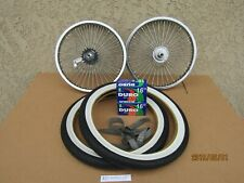 NEW BICYCLE LOWRIDER 16''- 68 SPOKES WHEEL SET W/ TIRES, TUBES & LINERS