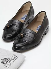 Mens Bostonian Black Leather Loafers - Size 10M