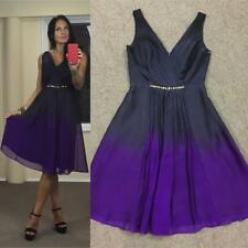 DF DIANA FERRARI charcoal purple COCKTAIL DRESS 10 NEW jewel 3+ITEMS= FREE POST
