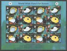 L15971997 MICRONESIA FAUNA WWF MARINE LIFE BUTTERFLYFISH 1SH MNH