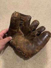 Vintage Baseball Glove 1940s JC Higgins Bob Feller Model - Split Finger