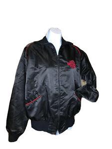 Vintage Harley Davidson Jacket Made in USA Nylon Full Zip Black/Red