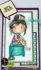 Girl Talk Tinsley  L@@K@ example Paper Nest Dolls Rubber Stamps