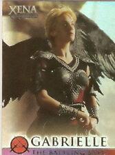 Xena Battling Bard G8 Season 4 and 5 Angel Gabrielle insert card Renee OConnor