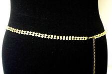 Golden multi stone femme fashion ceinture belle tenue de soirée taille 78-96cm (28-38in)