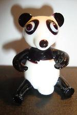Genuine Handmade  Spun Glass ~Panda~Figure~Ornament~Animal~Boxed~uk seller