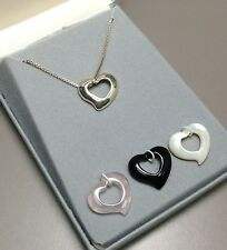 Sterling Silver Interchangeable Necklace with Onyx, Rose Quartz, Mother of Pearl