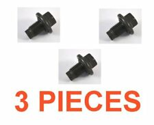 (3) 14mm 1.50 16mm Hex Drain Plugs W/ Rubber Inset Gaskets RPL F75Z-6730BA