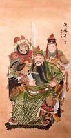 100% ORIGINAL FAMOUS ASIAN ART CHINESE FIGURE WATERCOLOR PAINTING-War King