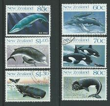 NEW ZEALAND 1988 WHALES SET OF 4  FINE USED