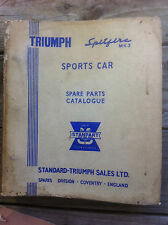 Triumph Spitfire MK3  Spare Parts Catalogue Factory Original 1st Edition 516282