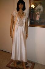 CHRISTIAN DIOR PARIS NEW YORK vintage Bridal Lingerie IVORY SATIN size L Large