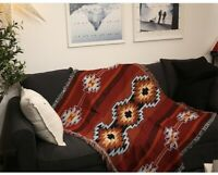 Cotton Large Navajo Indian Throw Aztec Blanket Sofa Cover Tapestry Picnic Rug