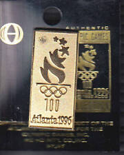 RARE PINS PIN'S .. OLYMPIQUE OLYMPIC JEUX ATLANTA 1996 TORCHE TORCH OR GOLD ~16