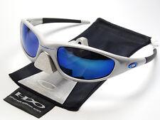 Oakley Straight Jacket Silver Blue Ice Lunettes de soleil Trench Topcoat Turbine X