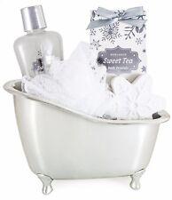 """BRUBAKER Coffret de bain vanilla 'Sweet Tea"""" Baignoire d' Argenté 5-Pieces"""