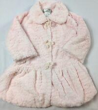 Widgeon Size 4T Pale Pink Faux Fur Ruffle Collared Long Dress Coat Jacket