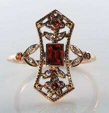 Garnet Rose Gold Victorian (1837 - 1901) Fine Rings