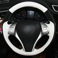 DIY Top Leather Steering Wheel Hand-stitch on Wrap Cover For Nissan X-Trail