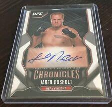 Jared Rosholt 2015 Chronicles UFC Men's Heavy MMA Autograph Auto Signature Card