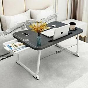 MGsten Laptop Bed Table XXL Portable Laptop Desk with Cup Holder Foldable Des...