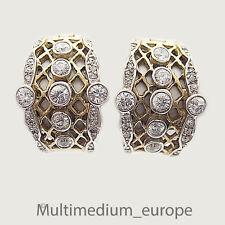 Silber Creolen vergoldet Ohrringe Zirkonia silver gilt earrings zirconia loops