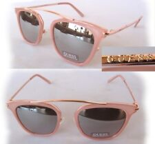New GUESS GF0328 Pink-Gold/Mirror Womens Sunglasses