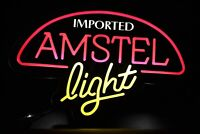 Imported Amstel Light Neon Light Up Sign Electric Bar Pub Man Cave