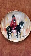 """Morning Ride"", De Grazia Limited Edition collector plate, 1986"
