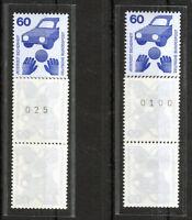Bund 701 A R postfrisch g. Nr + u. Nr Fünferstreifen Rollenmarken 5-er Streifen