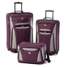 American Tourister Luggage Fieldbrook II 3 Piece Set, Purple/Grey New