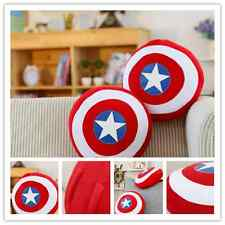 Captain America's shield superhero creative pillow plush home decor mat