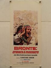 BRONTE CRONACA DI UN MASSACRO regia Florestano Vancini locandina originale 1972