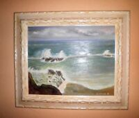 GORGEOUS NORTH WINDHAM MAINE PLEIN AIR IMPRESSIONISM SEASCAPE OIL PAINTING