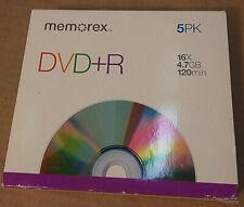 Memorex DVD+R 5 Pack Blank Disks