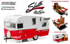 NEW GREENLIGHT 1:24 W/B TRAILER SHASTA 15' AIRFLYTE DIECAST HITCH TOW 18225 RD