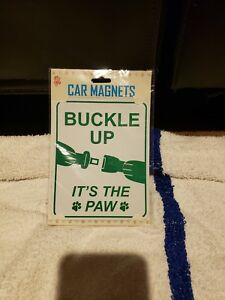 Dog Car Magnet Buckle Up Its The Paw
