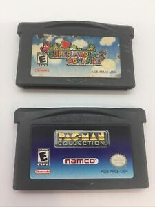 Pacman Collection & Super Mario Advance GameBoy Advance GBA Cartridge Only Lot