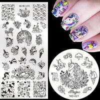 Animals Nail Art Stamping Plates Stamp Image Template Stainless Steel