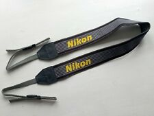Genuine Nikon Heavy duty Camera Strap in Grey/Yellow - New