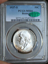 ~☆MS-66 AND CAC☆~ 1937-S BOONE Half Dollar Commemortive PCGS AWESOME