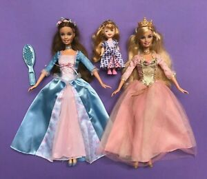 Erika Barbie Doll Anneliese Princess and the Pauper Lot 2 Used Kelly Very Good